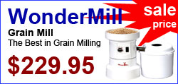 WonderMill Grain Mill, the best in grain milling. Now on sale
